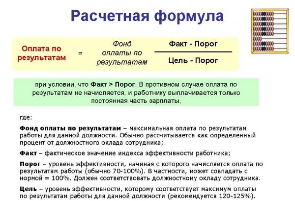 Схема оплаты труда менеджеров