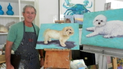 Джордж Буш рисование