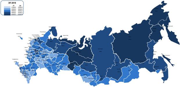 зарплаты в России