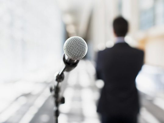 Show how to be a public speaker